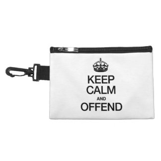KEEP CALM AND OFFEND ACCESSORY BAGS