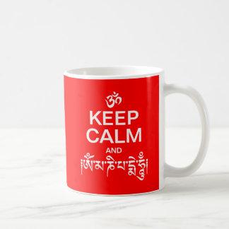 Keep Calm and Om Mani Padme Hum Basic White Mug
