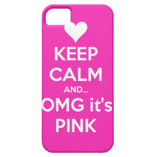 Keep calm and OMG... it's pink iPhone 5 Case