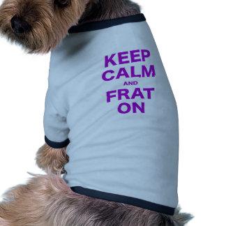 Keep Calm and On Pet Tshirt
