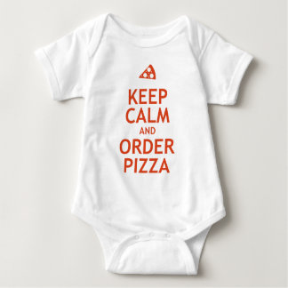 Keep Calm and Order Pizza Baby Bodysuit