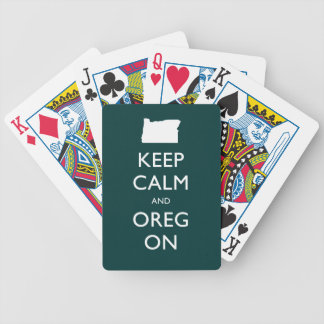 Keep Calm and Oregon Bicycle Card Deck