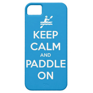 keep calm and paddle on iPhone 5 covers