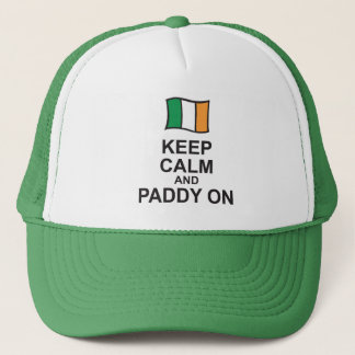KEEP CALM and PADDY ON St Patricks Day cap