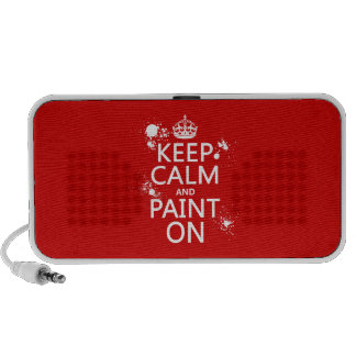 Keep Calm and Paint On (in all colors) Travelling Speakers