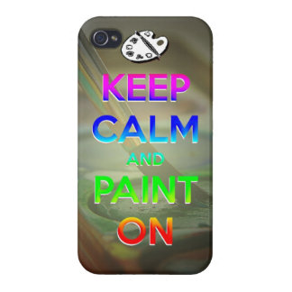 keep calm and paint on phone case cases for iPhone 4