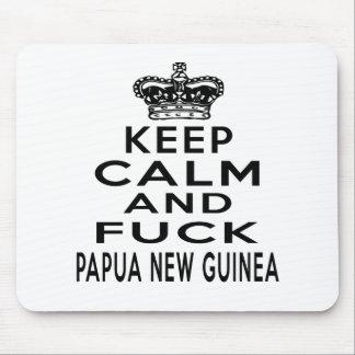 KEEP CALM AND PAPUA NEW GUINEA. MOUSE PAD