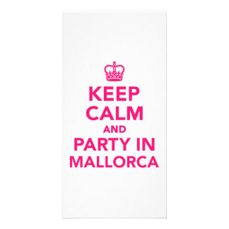 Keep calm and party in Mallorca Picture Card
