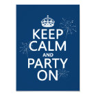 Keep Calm and Party On - all colours Card