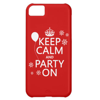 Keep Calm and Party On - all colours iPhone 5C Case