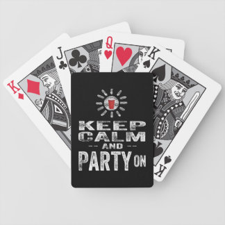Keep Calm and PARTY on Bicycle Poker Cards