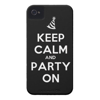 Keep Calm and party on birthday party occasion coo iPhone 4 Cover