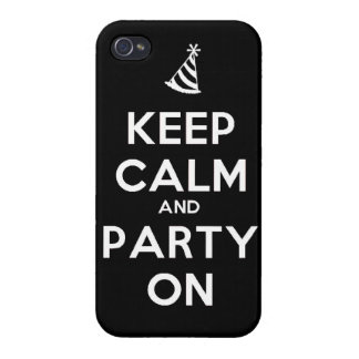 Keep Calm and party on birthday party occasion coo Case For iPhone 4