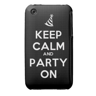 Keep Calm and party on birthday party occasion coo iPhone 3 Case