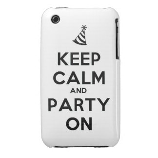 Keep Calm and party on birthday party occasion coo iPhone 3 Case-Mate Case