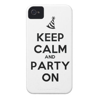 Keep Calm and party on birthday party occasion coo iPhone 4 Covers