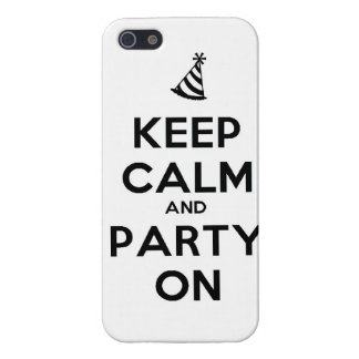 Keep Calm and party on birthday party occasion coo iPhone 5/5S Case