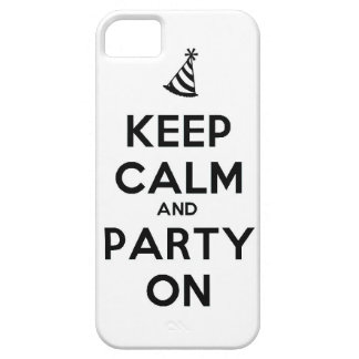 Keep Calm and party on birthday party occasion coo iPhone 5 Cases