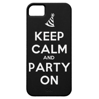 Keep Calm and party on birthday party occasion coo iPhone 5 Cover