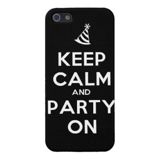Keep Calm and party on birthday party occasion coo Covers For iPhone 5