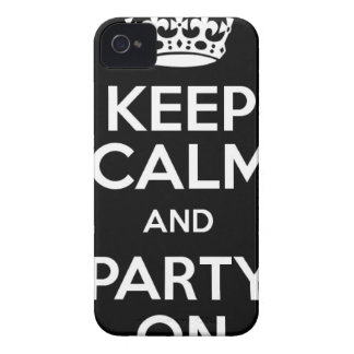 Keep Calm and Party On Case-Mate iPhone 4 Case