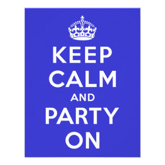 Keep Calm and Party On Custom Invite