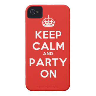 Keep Calm and Party On iPhone 4 Covers