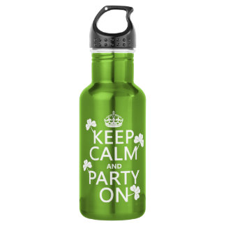 Keep Calm and Party On (irish) (any color) 532 Ml Water Bottle