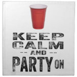 Keep Calm and PARTY On. Napkins