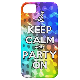Keep Calm and Party On Parties Drink birthday fun Barely There iPhone 5 Case