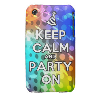 Keep Calm and Party On Parties Drink birthday fun iPhone 3 Case-Mate Cases