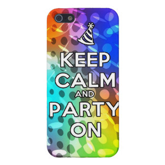 Keep Calm and Party On Parties Drink birthday fun iPhone 5 Cases