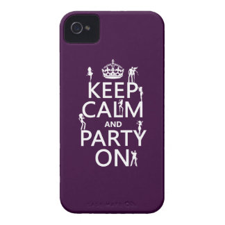 Keep Calm and Party On (party girls) (all colors) iPhone 4 Case-Mate Case