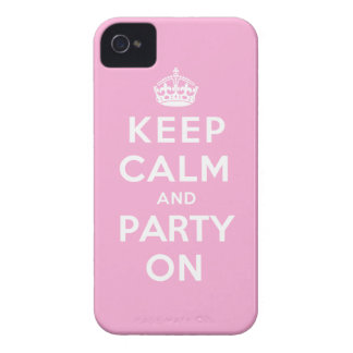 Keep Calm and Party On - Pink Case-Mate iPhone 4 Cases