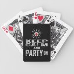 Keep Calm and PARTY on Playing Cards