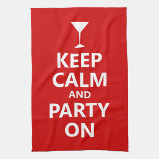 Keep Calm and Party On Tea Towel