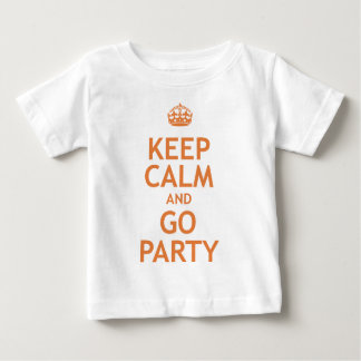 keep calm and party on tee shirt