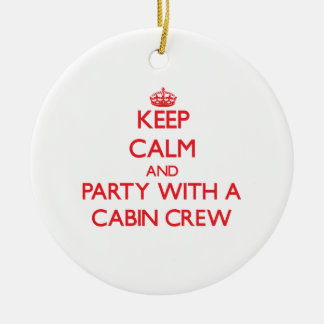 Keep Calm and Party With a Cabin Crew Christmas Ornament