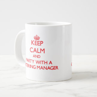 Keep Calm and Party With a Catering Manager Jumbo Mug