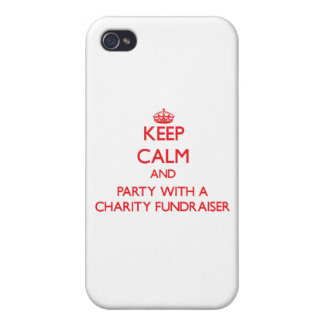 Keep Calm and Party With a Charity Fundraiser Cases For iPhone 4