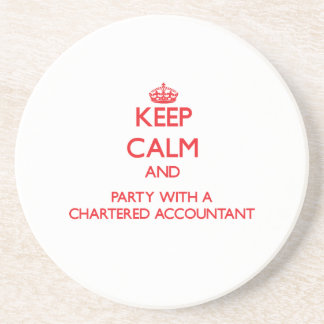 Keep Calm and Party With a Chartered Accountant Beverage Coasters