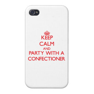 Keep Calm and Party With a Confectioner iPhone 4/4S Cases