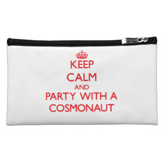 Keep Calm and Party With a Cosmonaut Cosmetic Bag