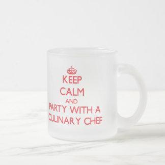 Keep Calm and Party With a Culinary Chef Coffee Mug