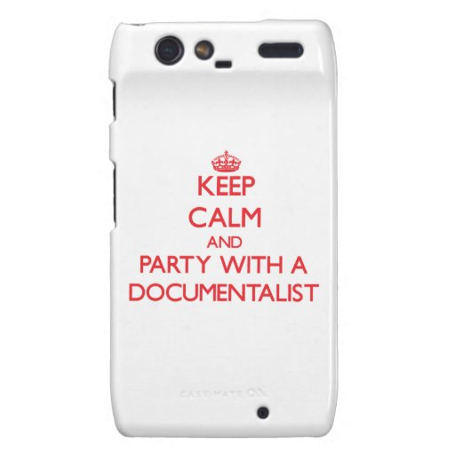 Keep Calm and Party With a Documentalist Droid RAZR Covers