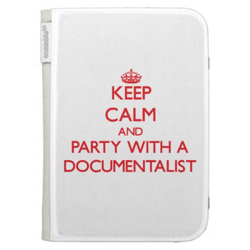Keep Calm and Party With a Documentalist Kindle Keyboard Covers