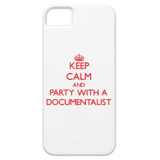 Keep Calm and Party With a Documentalist iPhone 5 Cover