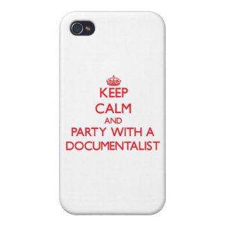 Keep Calm and Party With a Documentalist iPhone 4 Cases