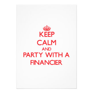 Keep Calm and Party With a Financier Personalized Announcements