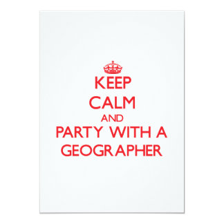 Keep Calm and Party With a Geographer Announcement